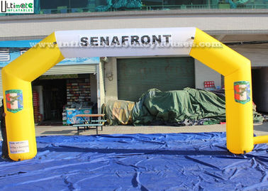 Custom Made Yellow Inflatable Arches EN71 Untuk Iklan Outdoor