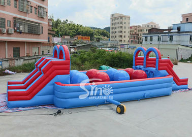Outdoor Double Lane Dewasa Wipeout Inflatable Big Baller Untuk Inflatable Assault Course Dari Sino Inflatables