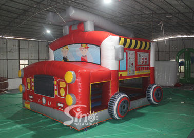 The Blow Up Fire Truck Inflatable Bouncy Castle Untuk Anak-Anak Dan Dewasa Waktu Pesta