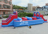 Cina Outdoor Double Lane Dewasa Wipeout Inflatable Big Baller Untuk Inflatable Assault Course Dari Sino Inflatables perusahaan