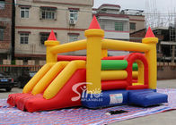 Anak Rainbow Inflatable Combo Goyang Castle Dengan Slide Buatan China Inflatable Factory