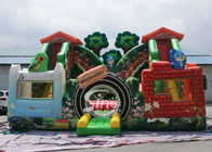 Jungle Theme Kids Backyard Inflatable Amusement Park Dengan Digital Printing Untuk Outdoor Fun