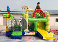 Safari World Jungle gajah Inflatable Bouncy Castle untuk anak-anak Outdoor N Indoor Playground Fun